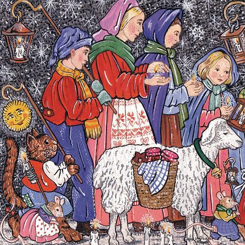 Carte Veillée de Noël