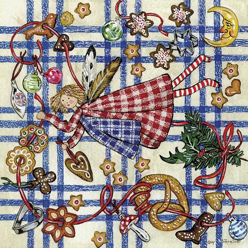 Carte Anges et petits gâteaux