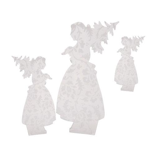 Alsacienne sapin en plexi gravé, à poser - 3 tailles