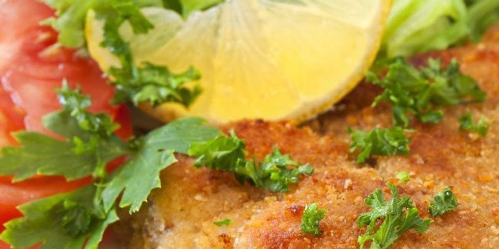 Online Teen Cooking Class - Chicken Schnitzel and Garlicky Greens