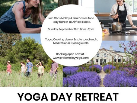 Getting back to in person! Yoga and Cookery Day Retreat - September 19th