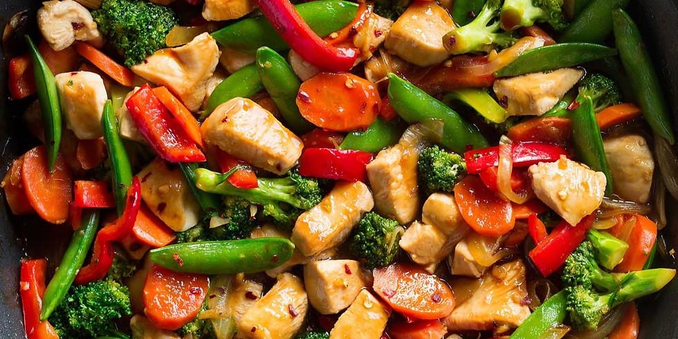 Teen Dinner Takeover - Five Spice Chicken & Vegetable Stir Fry