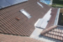 picture of a new roof with lead box gutter