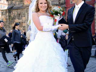 Destination wedding in the beautiful city of Prague, Czech Republic