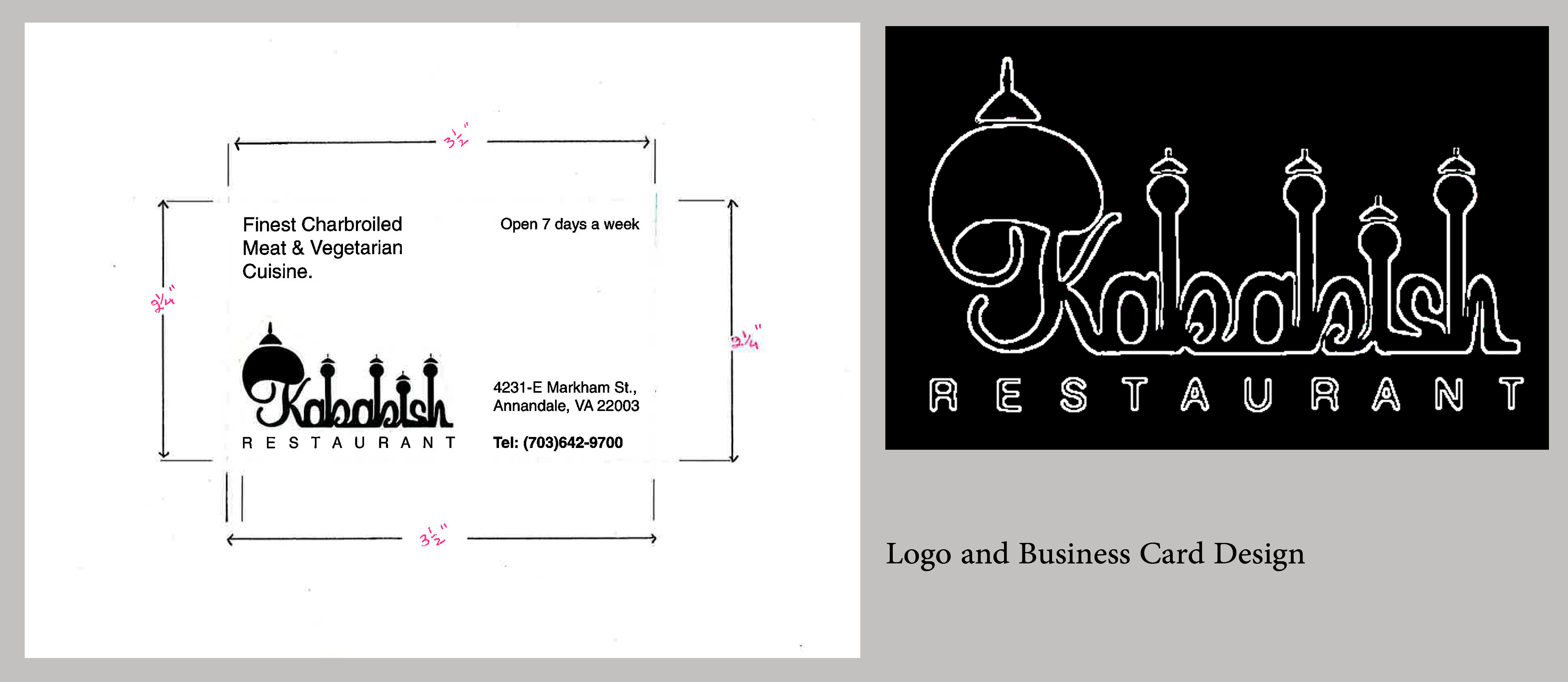 Logo&Business card for Kabish Restaraunt