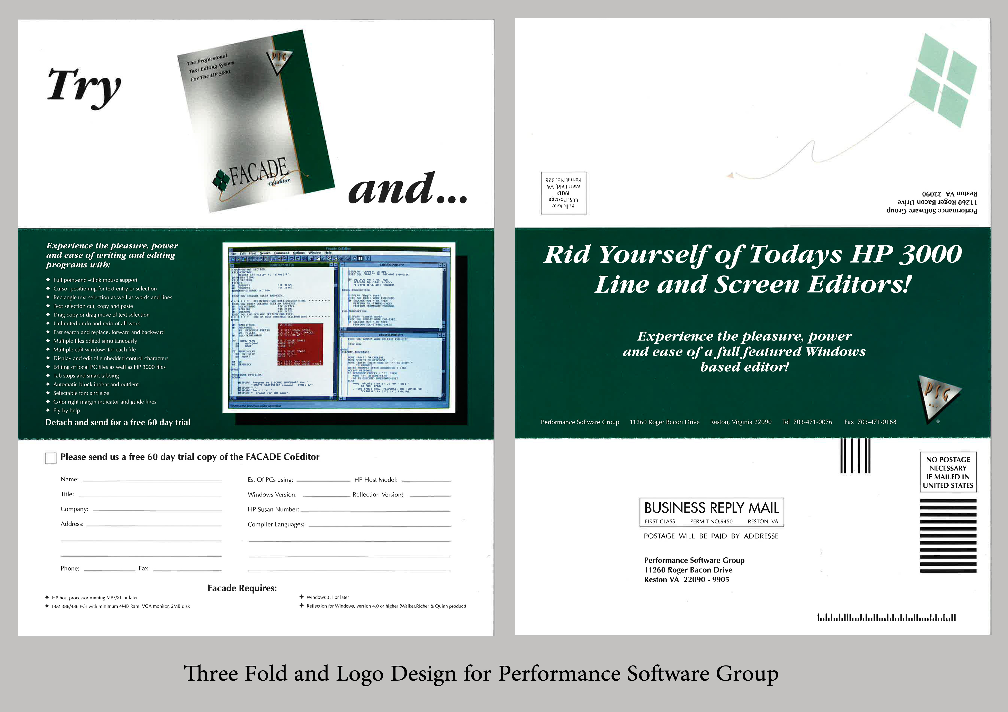 Tri Fold for Mailer for Performance Software Group