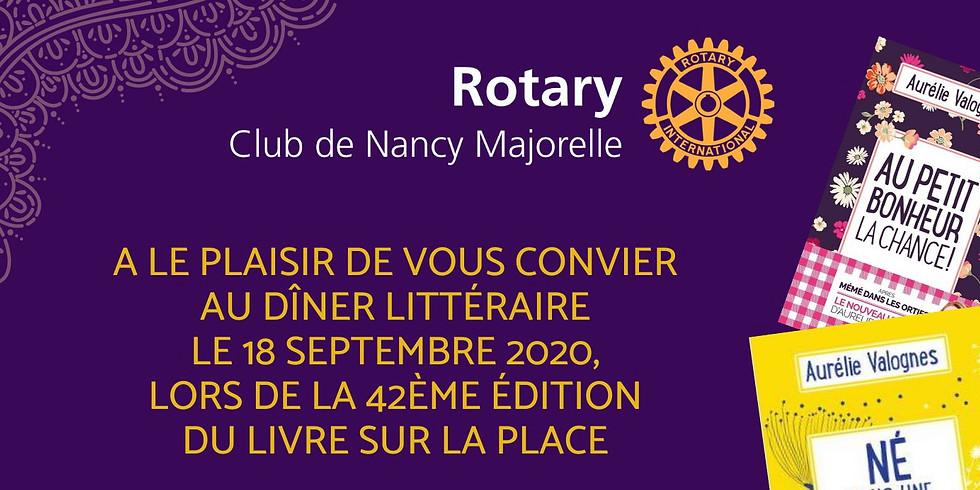 Dîner Littéraire 2020 du Rotary Club Nancy Majorelle