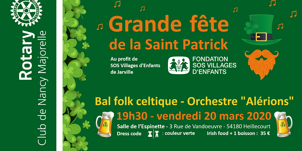 Grande fête de la Saint Patrick