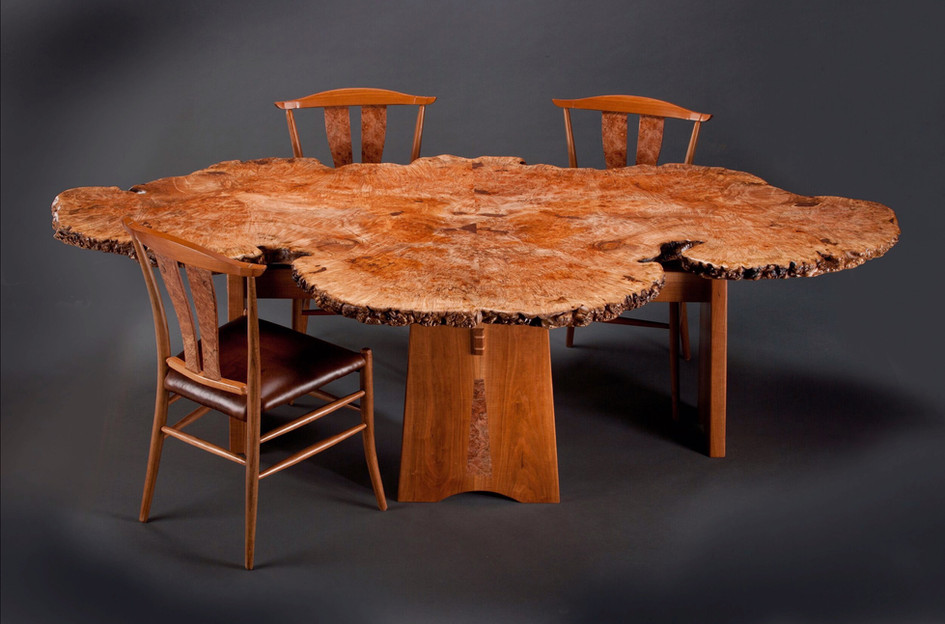 Maple Burl Dining Table