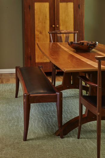 Bench, Armchairs, & Arches Dining Table