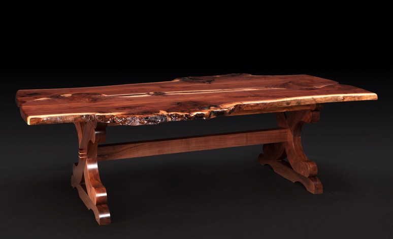 Walnut Burl Dining Table