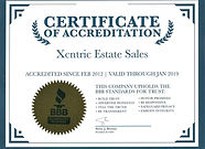 BBB Certificate of Accreditation
