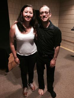 with Mark Steinberg, violin