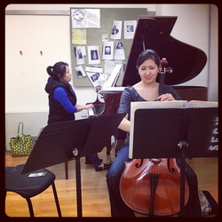 Rehearsal with Trio 507