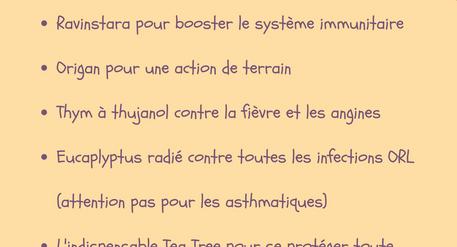 5 huiles essentielles contre les infections