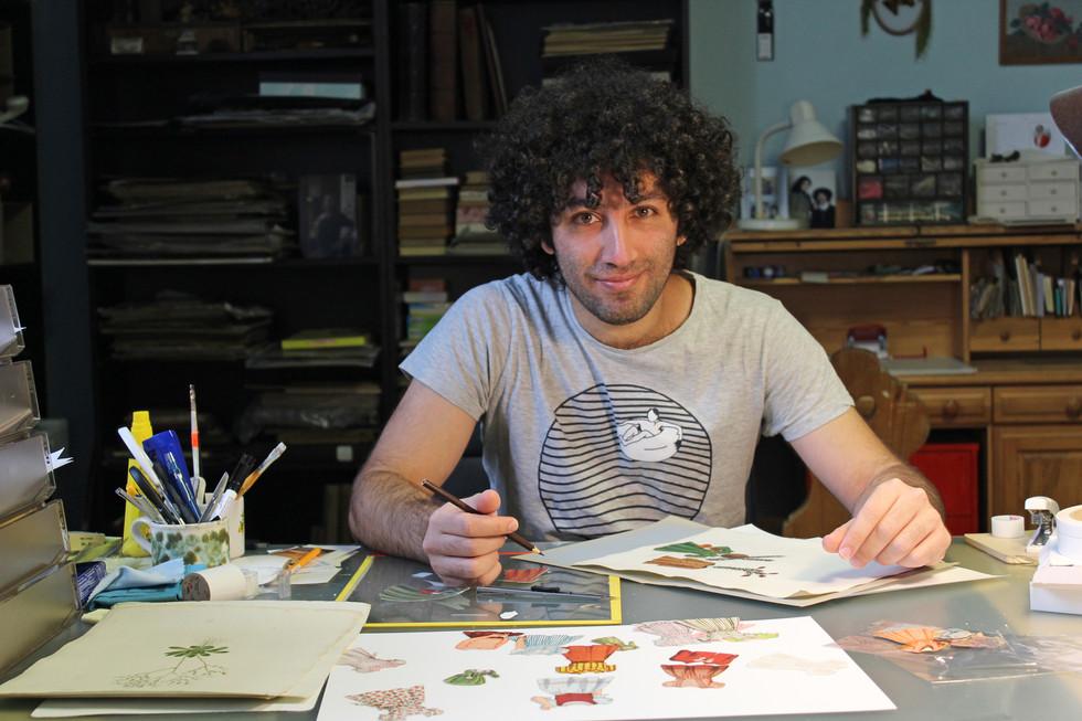 Farshido at his Studio