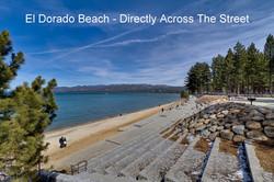 Eldorado Beach Directly Across the