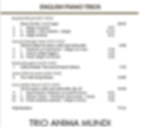English CD track listing
