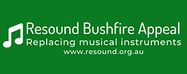 Resound Bushfire Appeal png with website
