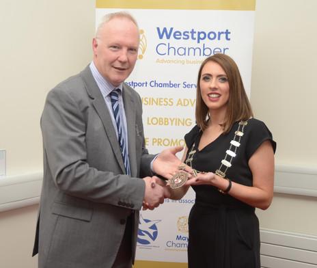 Maurice Mellotte and Helen Gavin  - Westport Chamber AGM 2019