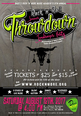 Rock 'n' Roll Summer Throwdown 2017 Poster