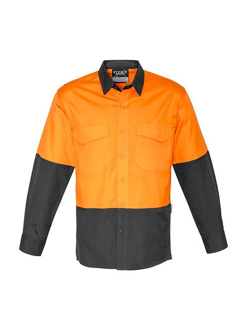 ZW128 Mens Rugged Cooling Hi Vis Spliced L/S Shirt