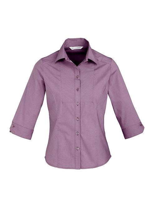 S122LT Ladies 3/4 Chevron Shirt
