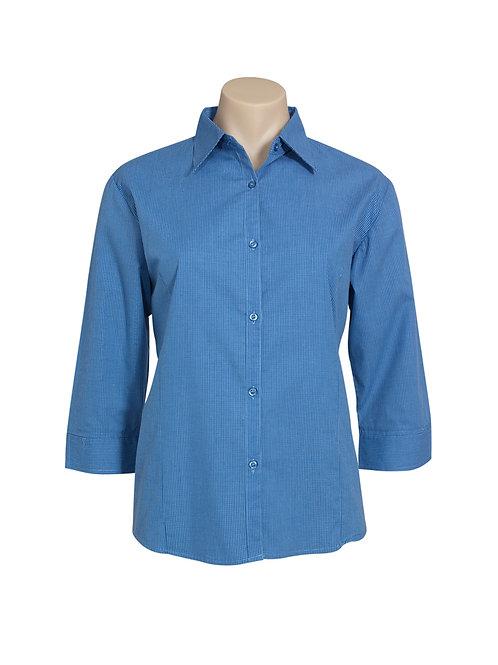LB8200 Ladies 3/4 Micro Check Shirt