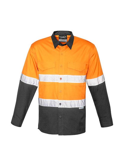 ZW129 Mens Rugged Cooling Taped Hi Vis Spliced L/S Shirt