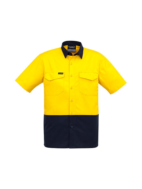ZW815 Mens Rugged Cooling Hi Vis Spliced S/S Shirt