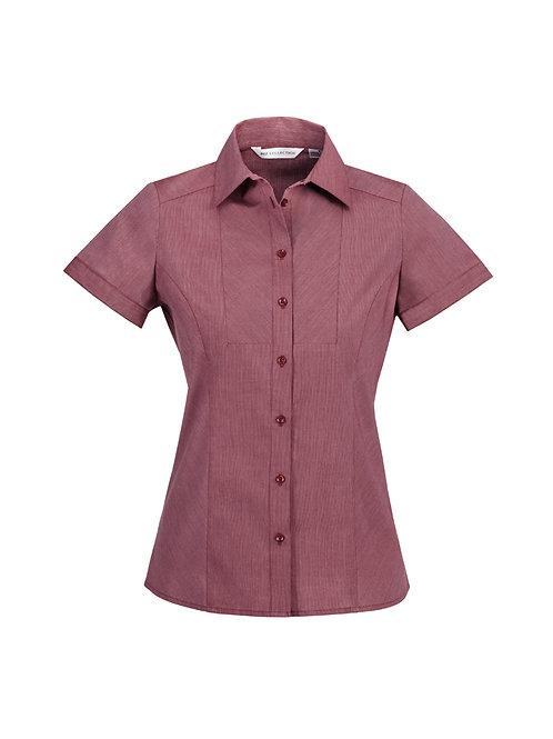S122LS Ladies SS Chevron Shirt
