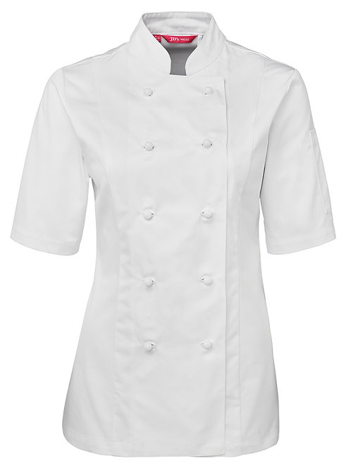 5CJ21 Short Sleeve Ladies Chef's Jacket
