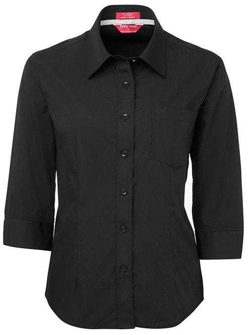 4PCL3 Ladies Contrast Placket 3/4  Shirt