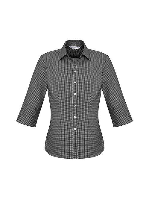 S716LT Ladies 3/4 Ellison Check Shirt