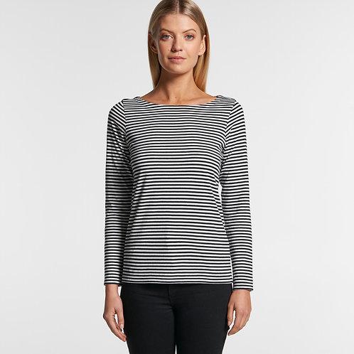 Bowery Stripe Long Sleeve Tee 4061