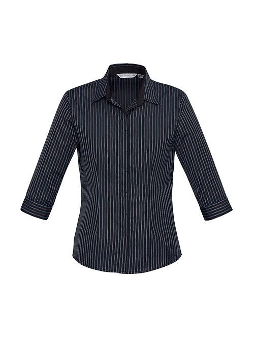 S415LT Ladies 3/4 Reno Stripe Shirt