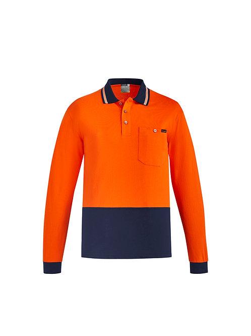 ZH430 Mens Hi Vis Cotton L/S Polo
