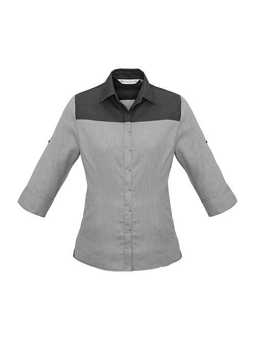 S503LT Ladies 3/4 Havana Shirt