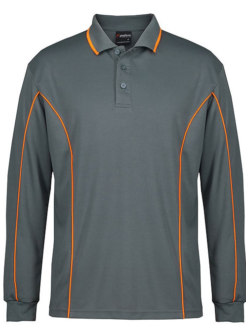 7PIPL L/S Piping Polo