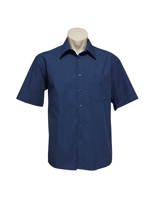 SH817 Mens SS Micro Check Shirt