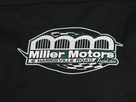 Embroidered Logo for Miller Motors