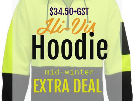 $34.50+GST Hi-Viz Pullover Hoodie Mid Winter Special