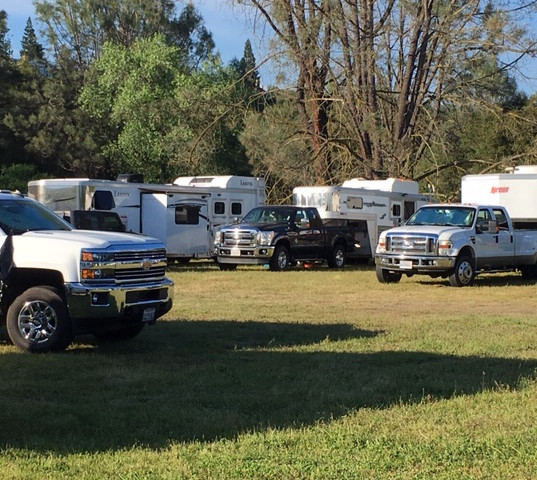 The trucks and trailers