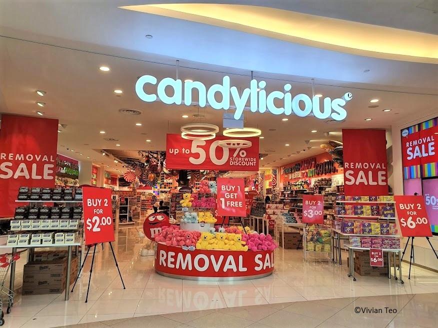 Candylicious at VivoCity candy, chocolate, stationery, soft toy, plushy sale