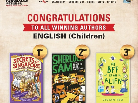 My BFF is an Alien wins 3rd place in the 2020 Readers' Choice Awards!