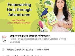 [POSTPONED] I'll be at Huggs-Epigram Coffee Bookshop!