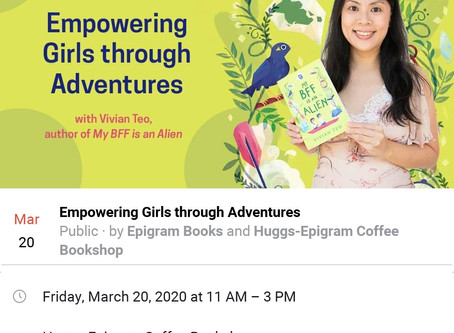 [POSTPONED] I'll be at Huggs-Epigram Coffee Bookshop!