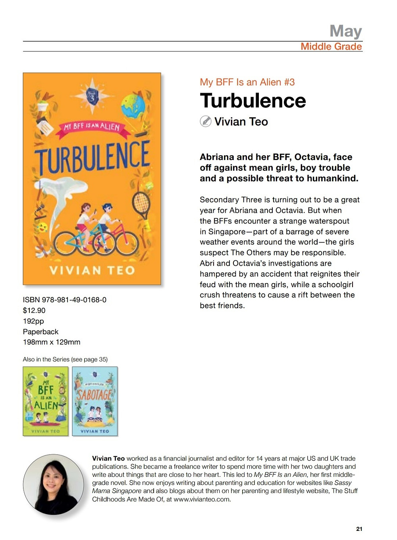 Turbulence My BFF is an Alien Vivian Teo Epigram books middle grade children singlit