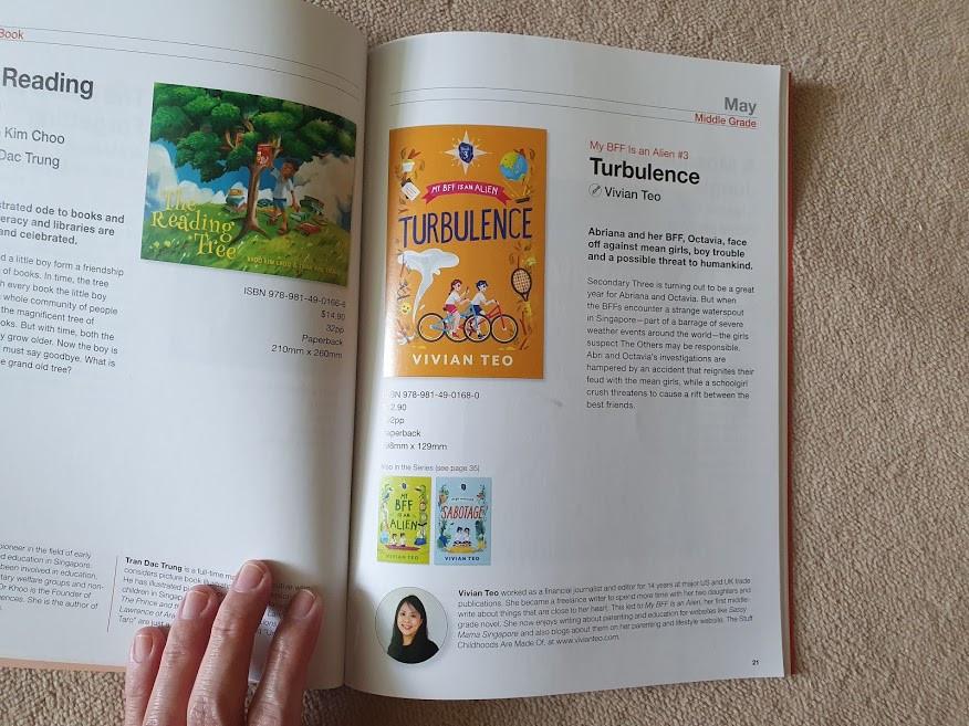 Epigram books my bff is an alien Vivian Teo middle grade children reading story Turbulence
