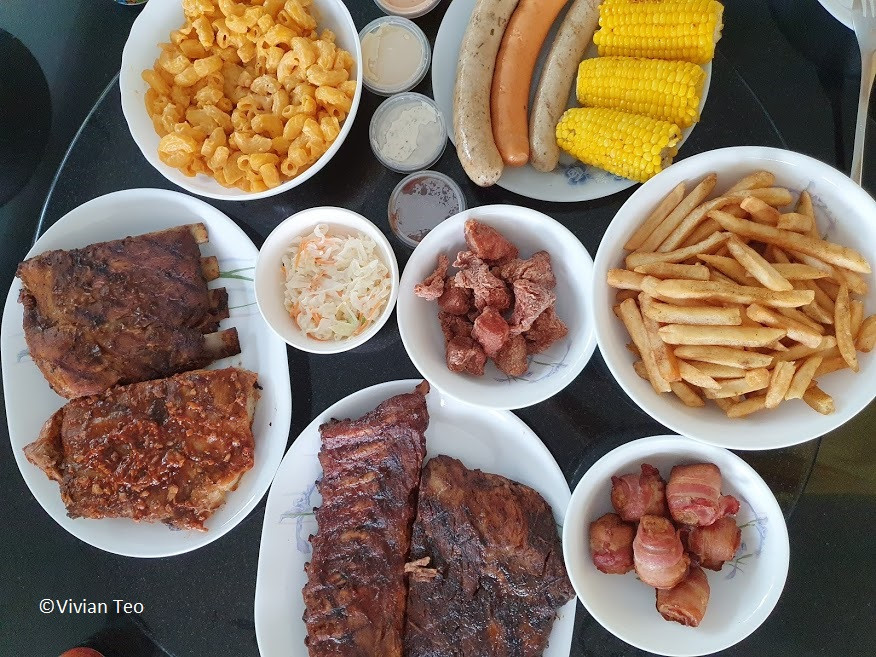Morganfields Singapore pork ribs sticky bones delivery mac cheese sausages order
